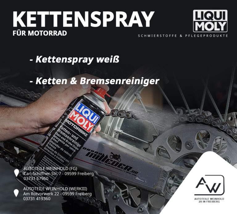 Kettenspray & Reiniger für dein Motorrad von Liqui Moly