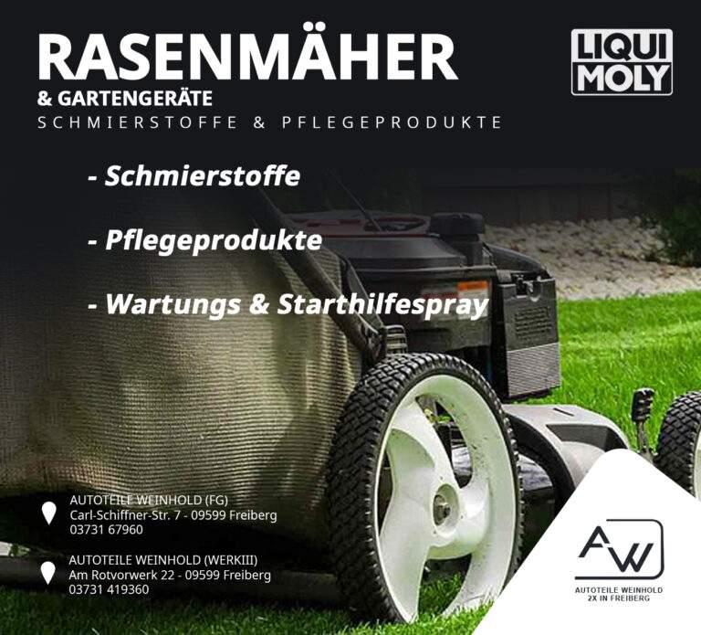 Liqui Moly Schmierstoffe und Pflegeprodukte für Rasenmäher & Gartengeräte