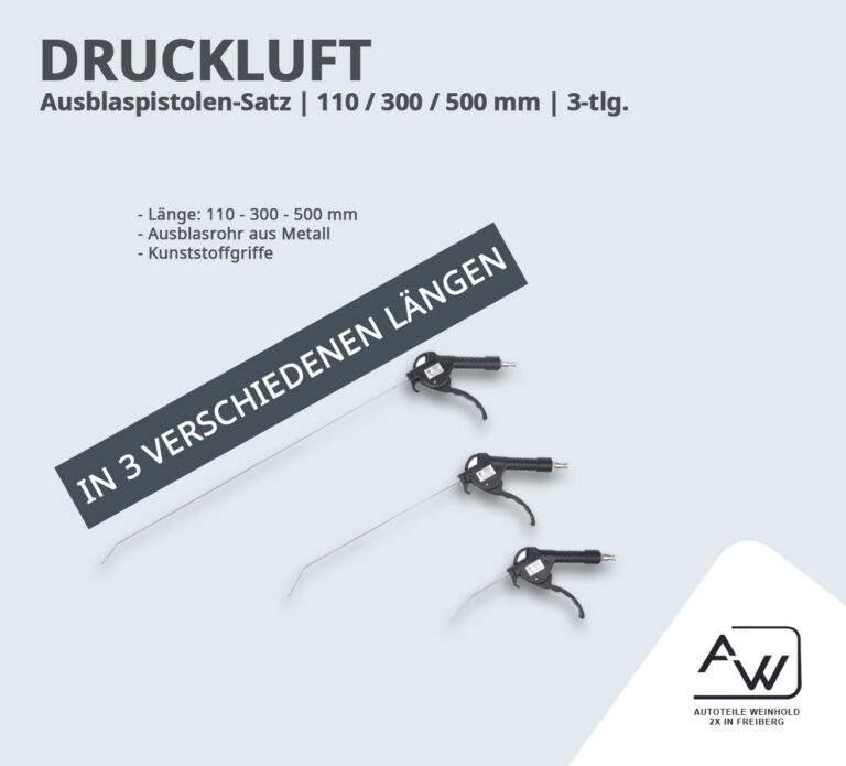 Ausblaspistolen-Satz | 110 / 300 / 500 mm | 3-tlg.