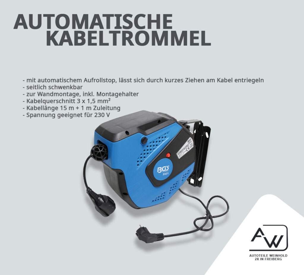Automatische Kabeltrommel von BGS Autoteile Weinhold Freiberg