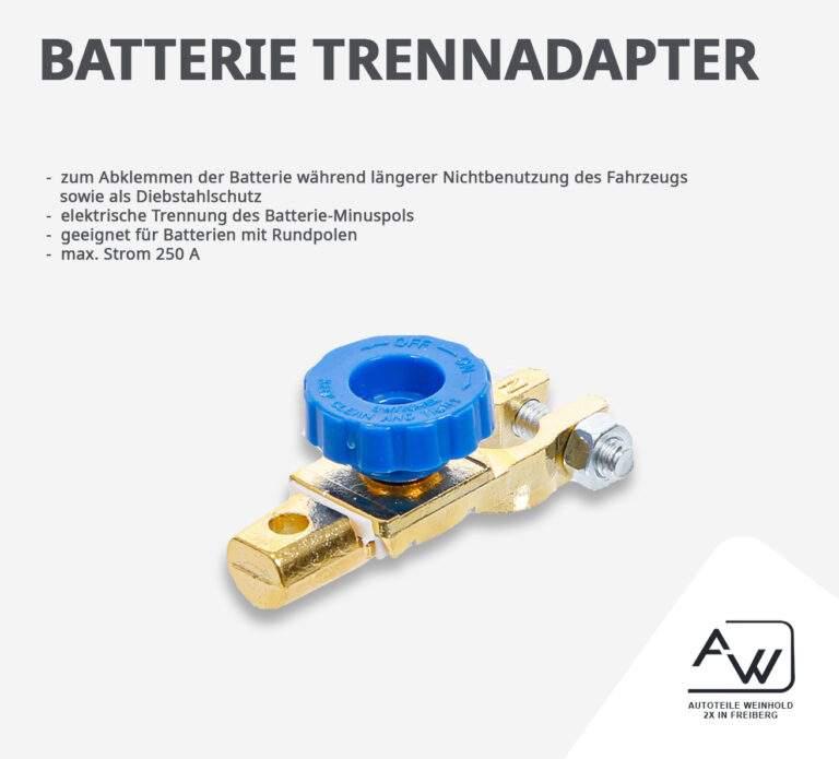 Batterie – Trennadpater